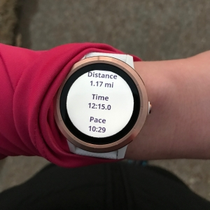 Running with my Garmin Vivoactive 3